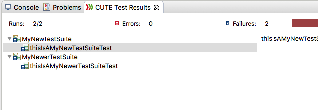 Multiple Suites Test View